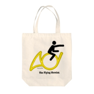 The Flying Hornist w/ Logo Tote bags