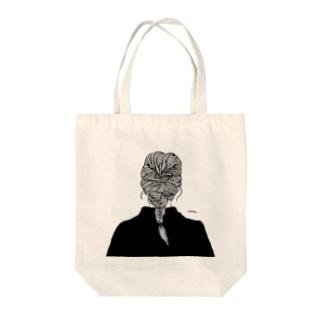 ロングヘアーを束ねたら Tote bags