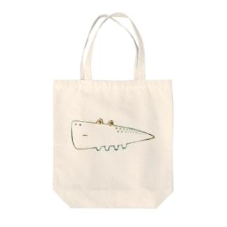さんかくわに Tote bags
