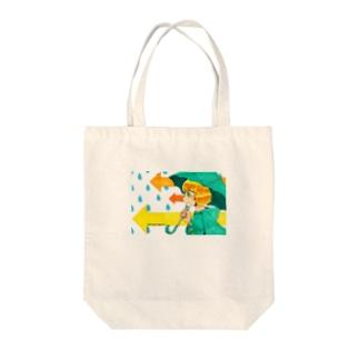 雨ニモマケズ! Tote bags