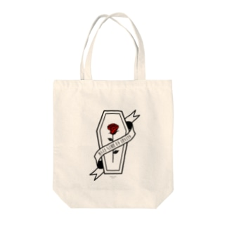 【MOON SIDE】Rose Coffin Ver.1 #Black Red トート Tote bags