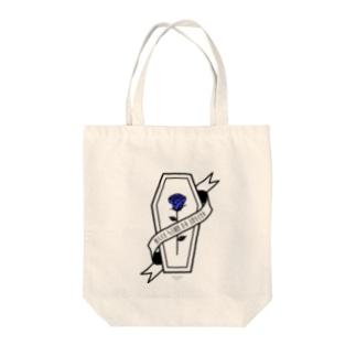 【MOON SIDE】Rose Coffin Ver.1 #Black Blue Tote bags