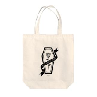 【MOON SIDE】Rose Coffin Ver.2 #Black  Tote bags