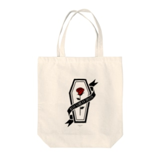 【MOON SIDE】Rose Coffin Ver.2 #Black RED Tote bags