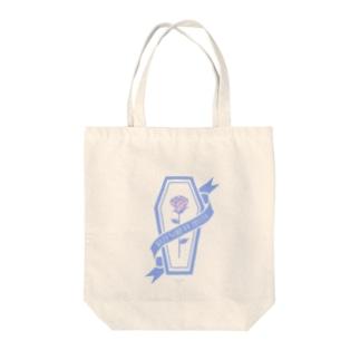 【MOON SIDE】Rose Coffin Ver.2 #lightblue×lightpink Tote bags