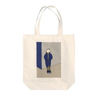 かっこつけ Tote bags