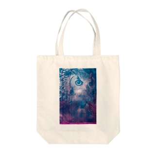 yuka_clucluのowl_owl Tote bags
