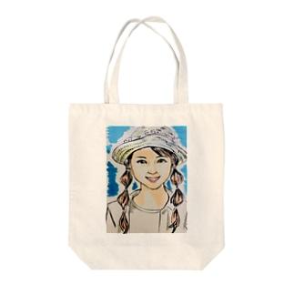 帽子の少女 Tote bags