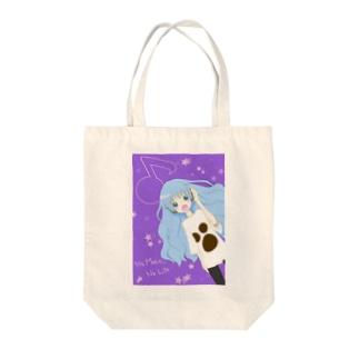 音楽が大好きな女の子 Tote bags