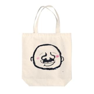 髭のオッチャン Tote bags