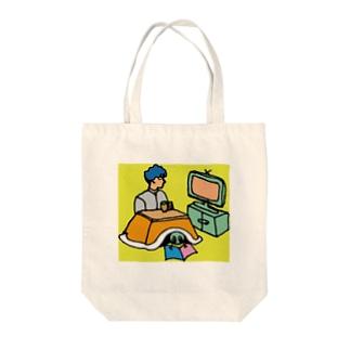 レタスと過ごすふゆやすみ Tote bags