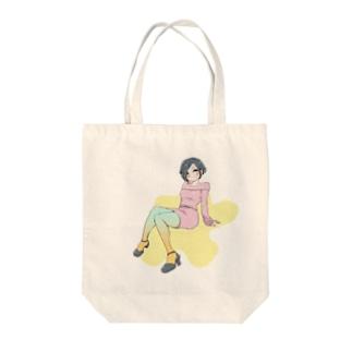 カラータイツ Tote bags