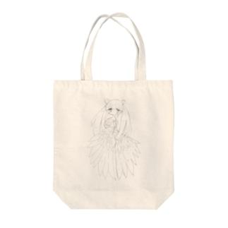 欠損天使ちゃん(黒線画) Tote bags