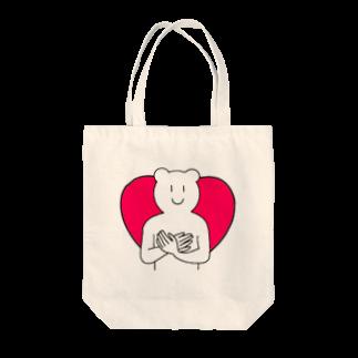 KIMAMALIFEの愛情溢れるくまさんトートバッグ