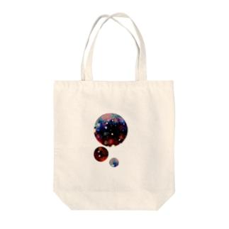 紅い星空 Tote bags