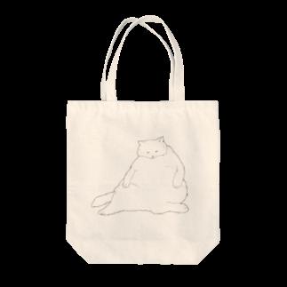 おデブ白猫の日向ぼっこ トートバッグ