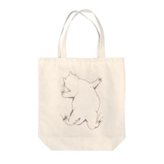 はりつくデブ猫 Tote bags