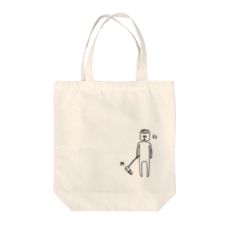 PokuStarの杵と臼のツーショットトートバッグ