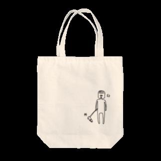 PokuStarの杵と臼のツーショット トートバッグ
