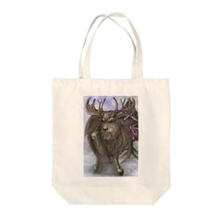 reindeer Tote bags