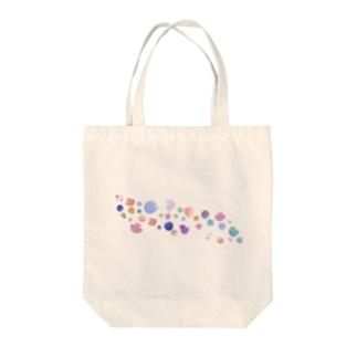 カラフルなクラゲ カストティラス Tote bags