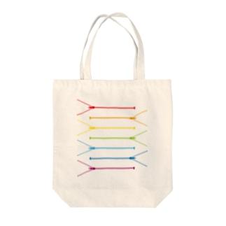 レインボージップ1 Tote bags
