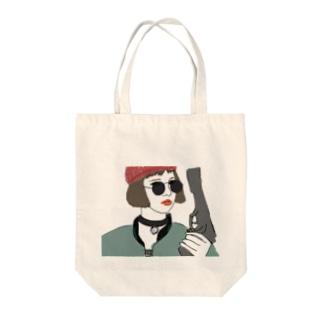 殺し屋少女 Tote bags