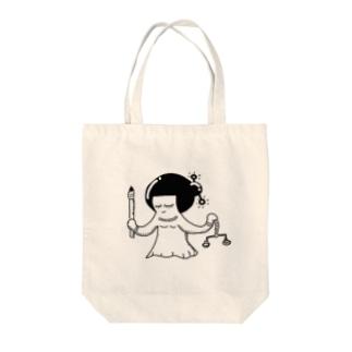 暗黒電波神 Tote bags