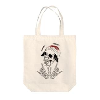 スカルブラピさん Tote bags