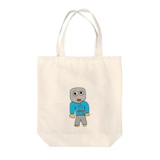 覆面マン Tote bags