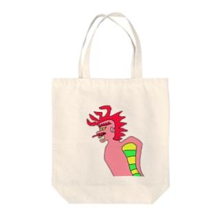 JUNSEN(純仙)火勢 Tote bags