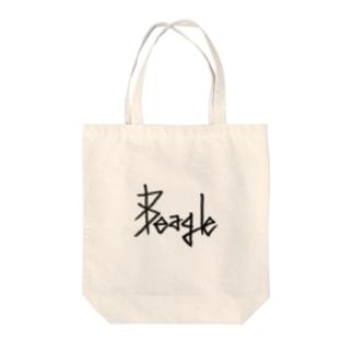それっぽく犬種をロゴ化 Tote bags