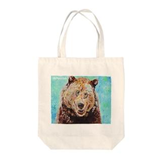 エゾヒグマ Tote bags
