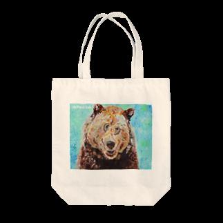 Un Petit Zooのエゾヒグマ Tote bags