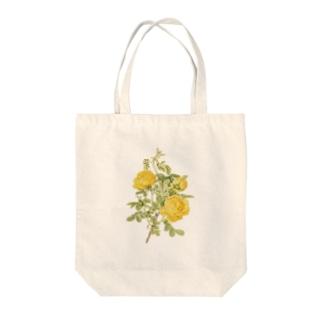バラ <アンティーク・ボタニカルアート> Tote bags