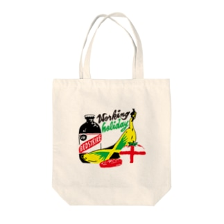 working holiday Tote bags