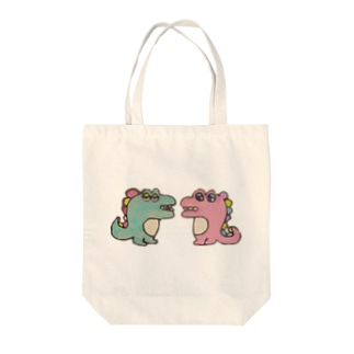 きょうりゅう夫婦 Tote bags