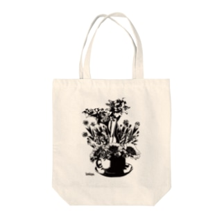 Cup Girl Tote bags