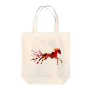 Red Horse Tote bags