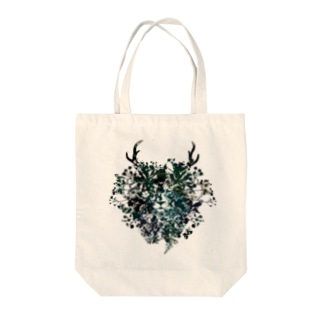 Flower Lion Tote bags