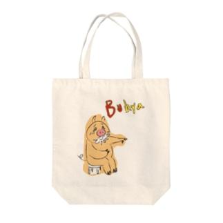 笑う豚 Tote bags