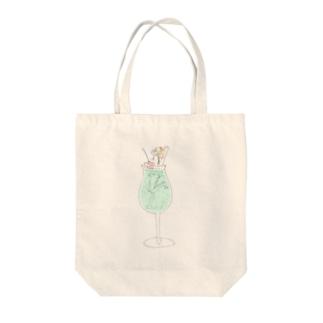 メロンソダ子ちゃん(飲み物美少女) Tote bags