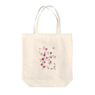 ハート❤唐草 Tote bags