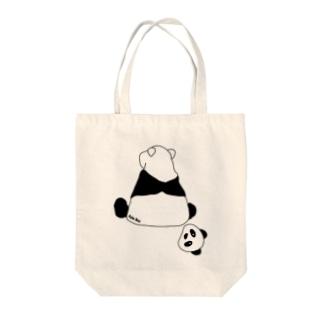 パンダ? Tote bags