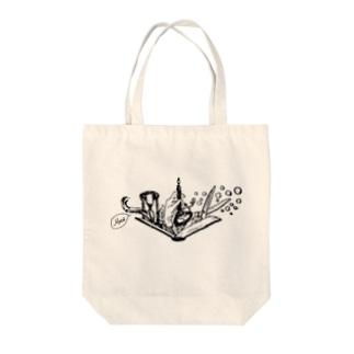 -Noir+Angelique- メモリアルイラスト柄シリーズ Tote bags