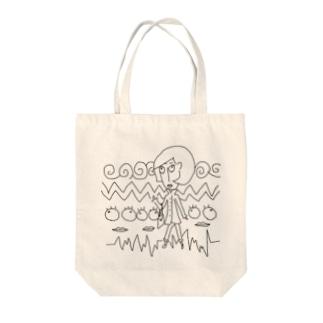トレンチレディー Tote bags