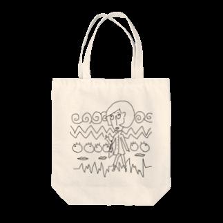 晴田書店のトレンチレディー Tote bags