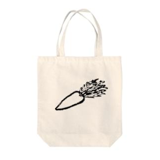 にんじん Tote bags