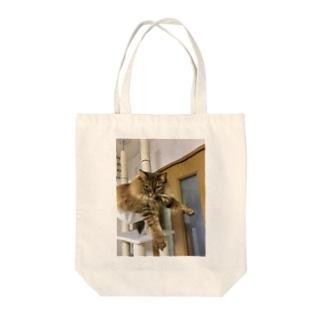 プラプラアポロ Tote bags