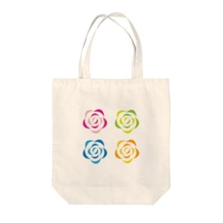 ハピクリエイト4色カラー Tote bags